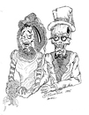 Cartoon: TIL DEATH DO US PART (small) by Toonstalk tagged bride groom love forever sexy marriage