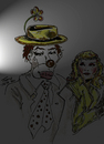Cartoon: WAITING IN THE WINGS (small) by Toonstalk tagged clown crying performer theatre mask makeup girl hobo actor