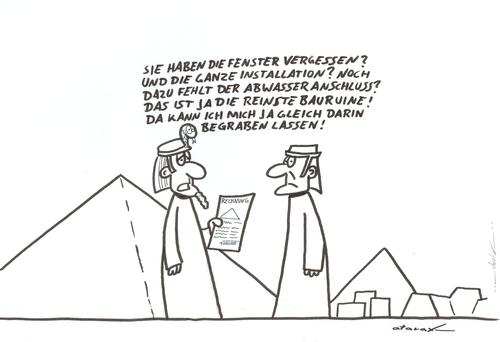 Pyramidenbau von tiefenbewohner | Medien & Kultur Cartoon | TOONPOOL
