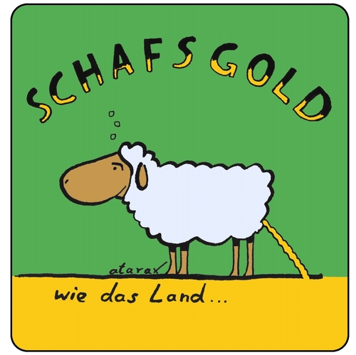 Cartoon: Schafsgold (medium) by tiefenbewohner tagged beer,sheep,bier,schaf