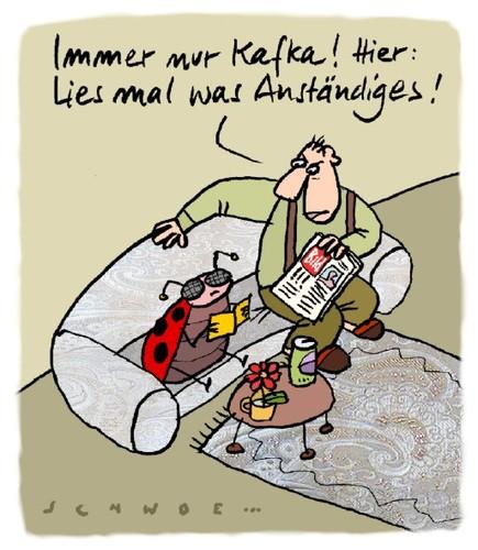 Kafka Von Schwoe Philosophie Cartoon Toonpool