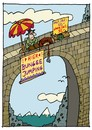 Cartoon: Bungee Jump (small) by schwoe tagged bungee,jumping,gefahr,kitzel,spannung,extremsport