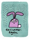 Cartoon: Hasi 3 (small) by schwoe tagged hase,regen,wetter,schirm,tief