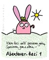 Cartoon: Hasi 59 (small) by schwoe tagged hasi,hase,stock,hut,abenteuer