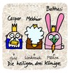 Cartoon: Hasi 92 (small) by schwoe tagged hasi,hase,weihnachten,dreikönige,christkind,gold,weihrauch