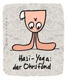 Cartoon: Hasi 9 (small) by schwoe tagged hase,yoga,kopfstand,ohren,fitness,wellness