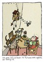 Cartoon: Philinchens Fasching (small) by schwoe tagged fasching,tod,katze,hund,kuckucksuhr