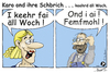 Cartoon: Karo  - keehrd äll Woch (small) by TOSKIO-SCHWAEBISCH tagged toskio,vtms,cartoon,tex,pander,karo,sprüche,schwäbisches,schwääbisches,schwaebisches,schwäbische,kehrwoche,einkehr,hebbe