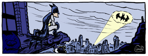 Cartoon: Batman and Mickey (medium) by gud tagged batman,mickey,mouse,comics
