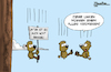 Cartoon: Unten ... (small) by Mangkor tagged lemminge,linke,cartoon,humor,tierwelt