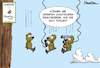 Cartoon: Vor Ort (small) by Mangkor tagged tv,cartoon,fall,humor,lemmige,medien