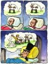 Cartoon: business man and insomnia (small) by corne tagged business man insomnia dreams money rich