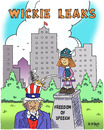 Cartoon: Wickie Leaks (small) by piro tagged wikileaks assange internet cyber attack