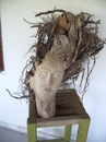 Cartoon: facewood (small) by necmi oguzer tagged wood,sculpture,statuette,women,holzsculpture