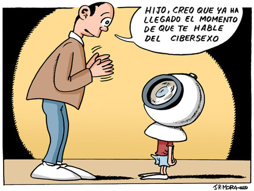 Cartoon: Cibersexo (medium) by jrmora tagged cibersexo