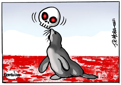 Cartoon: Focas del Artico (medium) by jrmora tagged focas,artico,animals,