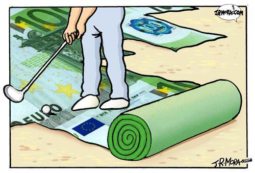 golf cartoon. Cartoon: Golf (medium) by
