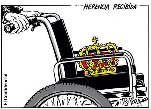 Cartoon: Rey Spain abdica (medium) by jrmora tagged monarquia,rey,juan,carlos,felipe