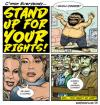 Cartoon: stand up! (small) by monsterzero tagged freedom,human,rights,cookie,zombies,dames,fat,guys,