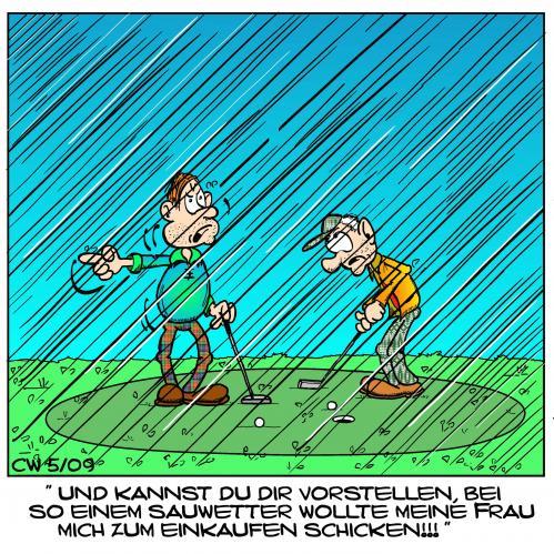 Regen, Regen, Wind & Schnee, Golfsport.News, Golfsport.News