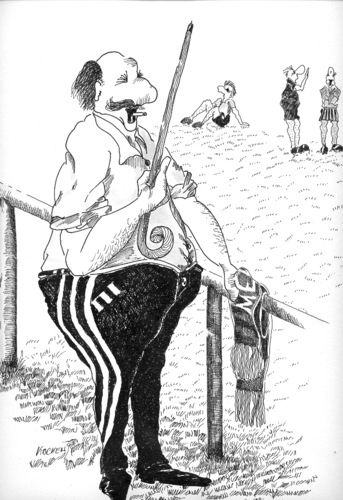 Cartoon: Der Fan (medium) by kocki tagged fussball,sport,opa,schlaumeier
