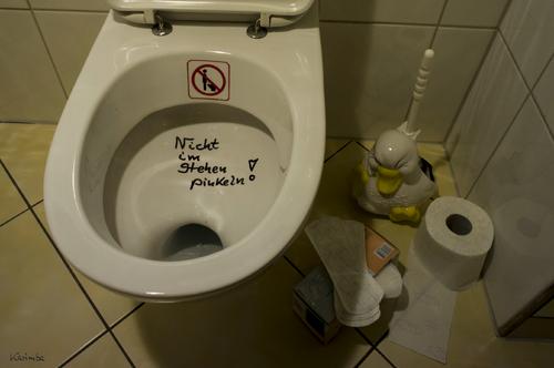 what do men do in the bathroom