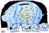Cartoon: EURO PIGGY BANK (small) by Christo Komarnitski tagged euro,greece,ireland,eu,portugal,spain