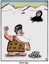 Cartoon: Stone age (small) by Farhad Foroutanian tagged religie