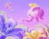 Cartoon: Elephant Fairy (small) by SuperSillyStudios tagged elephant,pink,fairy,flowers,fantasy,whimsical,butterfly,nature