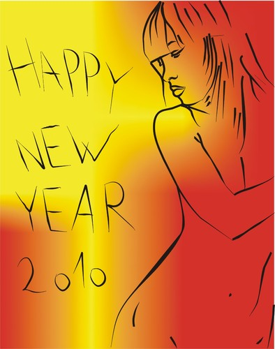 Cartoon: Happy New Year (medium) by bacsa tagged happy,new,year