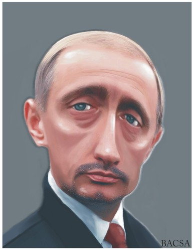 Cartoon: PUTIN (medium) by bacsa tagged putin