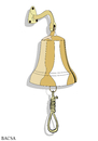Cartoon: BELL (small) by bacsa tagged bell
