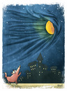 Cartoon: moon (small) by bacsa tagged moon