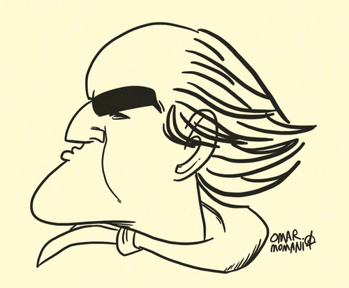 Cartoon: Marlon Brando Caricature (medium) by omomani tagged marlon,brandi,hollywood,caricature,the,missouri,breaks