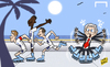 Cartoon: England touchdown in Miami (small) by omomani tagged danny,wellbeck,england,lampard,roy,hodgson,steven,gerrard