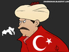 Cartoon: Erdogan II (small) by omomani tagged erdogan,turkey,arab