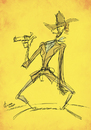Cartoon: High Plains Drifter (small) by omomani tagged clint eastwood cowboy west westren the stranger