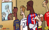 Cartoon: Hodgson calls up every man (small) by omomani tagged david,beckham,emile,heskey,england,jonjo,shelvey,rio,ferdinand,roy,hodgson,ryan,bertrand