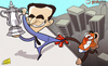 Cartoon: Mancini hangs over the abyss (small) by omomani tagged fa,cup,manchester,city,mancini,roberto,martinez,wigan