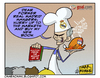 Cartoon: Mou the cook (small) by omomani tagged jose,mourinho,real,madrid,lyon,champions,league,portugal,chicken