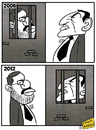 Cartoon: Mursi and Mubarak (small) by omomani tagged mursi,and,mubarak,egypt