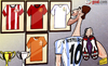 Cartoon: Ruud decides to hang up his boot (small) by omomani tagged holland,malaga,manchester,united,netherlands,psv,real,madrid,ruud,van,nistelrooy