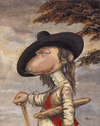 Cartoon: Karl I (small) by Uschi Heusel tagged karl,ratte,ludwig,baguette,kunst,paris,england,bäcker