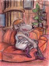Cartoon: Ludwig in Paris (small) by Uschi Heusel tagged ratte,ludwig,paris,liebe,kaffeefahrt,kleidung