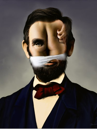 Abraham Lincoln Von Willemrasingart Beruhmte Personen Cartoon