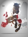 Cartoon: Horsemeat over Europe! (small) by willemrasingart tagged horse