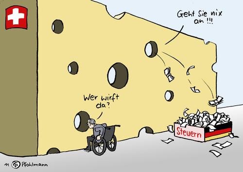 Deutsch Schweizer K 228 Se Von Pfohlmann Politik Cartoon
