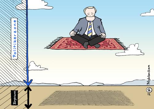 Fliegender Teppich von Pfohlmann  Politik Cartoon  TOONPOOL