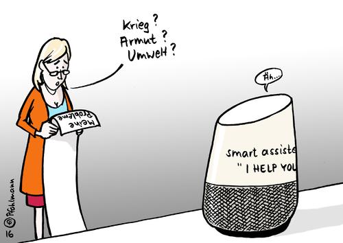 smart assistent von pfohlmann politik cartoon toonpool. Black Bedroom Furniture Sets. Home Design Ideas