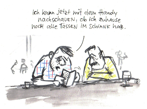 Cartoon: Tassenimschrank-App (medium) by Pfohlmann tagged karikatur,cartoon,color,farbe,2019,smartphone,app,smart,home,smarthome,überwachung,technologie,technik,internet,der,dinge,iot,vernetzt,vernetzung,tassen,schrank,handy,karikatur,cartoon,color,farbe,2019,smartphone,app,smart,home,smarthome,überwachung,technologie,technik,internet,der,dinge,iot,vernetzt,vernetzung,tassen,schrank,handy